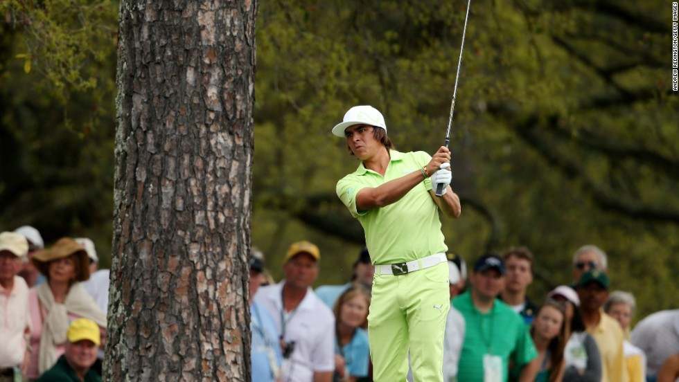 "You'd be hard-pressed to miss Rickie Fowler on the course in his neon threads. His outfits are color-coordinated, from flat-bill cap to footwear, as seen here during the <a href=""http://bleacherreport.com/articles/1601544-rickie-fowlers-outfit-steals-day-1-spotlight-at-2013-masters"" target=""_blank"">first round of the 2013 Masters</a>. Fowler is an official sponsor of the sportswear line Puma."
