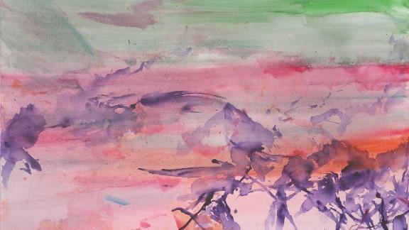 2009. Untitled (Paris). Watercolor on paper.