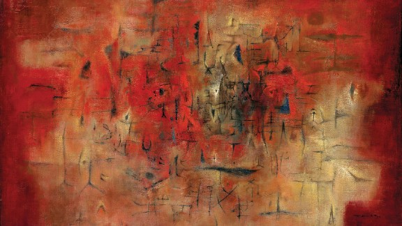"""Zao Wou-ki, widely regarded as one of the foremost Chinese contemporary painters of the 20th century, passed away on April 9 at the age of 93. His paintings uniquely combined the often disparate cultures and aesthetic visions of France and China.  This is his 1954 oil on canvas, """"Village en fête."""