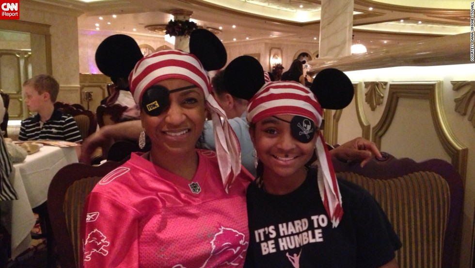 "Dana Simone Stovall of Aurora, Illinois, felt truly blessed to take her family on a <a href=""http://ireport.cnn.com/docs/DOC-954631"">Disney cruise</a> last year. To her, ""Disney and the mouse ears symbolize excellence, perfection and a true commitment to making 'magical' life moments."" A bank examiner, Stovall attends the company's Disney Institute ever year. The program teaches ""leadership, management excellence, and customer service in the way each one of their (Disney theme park) cast members personify it every day."""