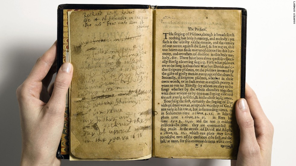 """The Whole Booke of Psalmes"" -- universally known as ""The Bay Psalm Book"" -- was produced in the virtual wilderness of Massachusetts Bay Colony by the Congregationalist Puritans. When it sold for $14,165,000, it set a world auction record for any printed book."