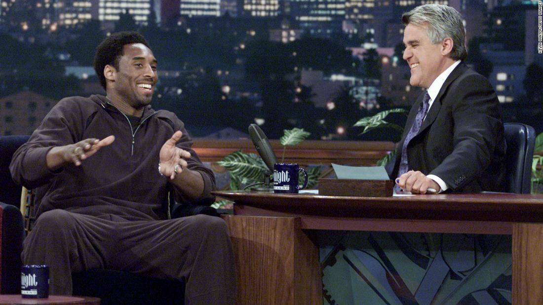 "Bryant appears on ""The Tonight Show with Jay Leno"" at NBC Studios in 2001."