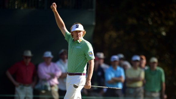 Brandt Snedeker of the United States waves during the third round of the 77th Masters golf tournament at Augusta National Golf Club on Saturday, April 13, in Augusta, Georgia. Click through to see all the shots from the third day and look back at the second round.
