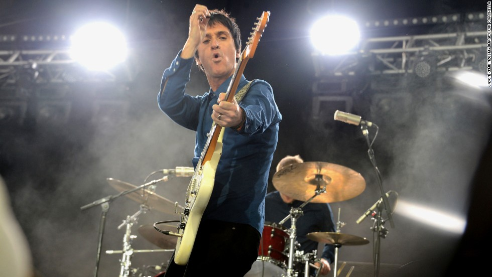 Johnny Marr performs onstage on April 12.