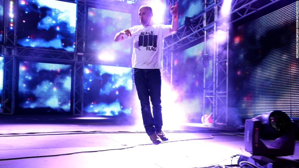 Moby performs onstage on April 13.