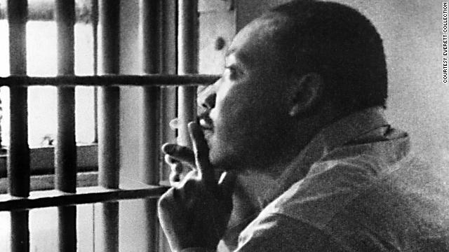 Rev. Martin Luther King Jr. in a Birmingham jail cell.
