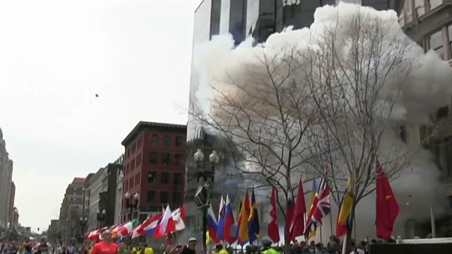 Watch Boston Marathon explosions
