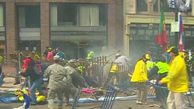 Boston witness: It was a war zone