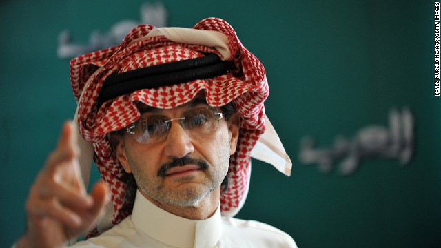 Saudi prince Alwaleed bin Talal speaks during a press conference, on September 13, 2011, in Riyadh.