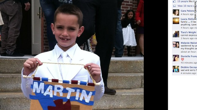 "The images of ""Martin Richard"" is being used under fair use guidelines. This means that you must write specifically to the clip, use only as much as is needed to make your editorial point, no use in promos, bumps or teases. Must font ""From _________"". Please consult your assigned attorney if you have questions."