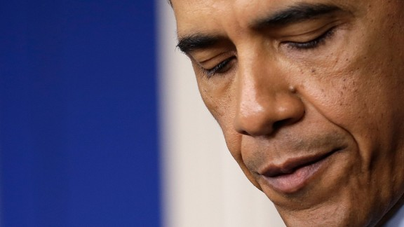 Obama makes a statement about the bombings on April 15, 2013.