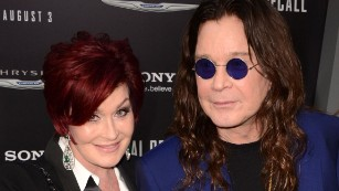 Sharon Osbourne says she forced an assistant to enter a burning house to retrieve artwork and then fired him