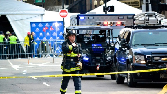 iReporter Charlie Abrahams, 47, had been shooting photos at mile 11 of the race when he headed back toward Boston and was greeted by sirens. He went over to Copley Square, close to where he lives, and captured photos of the first responders.