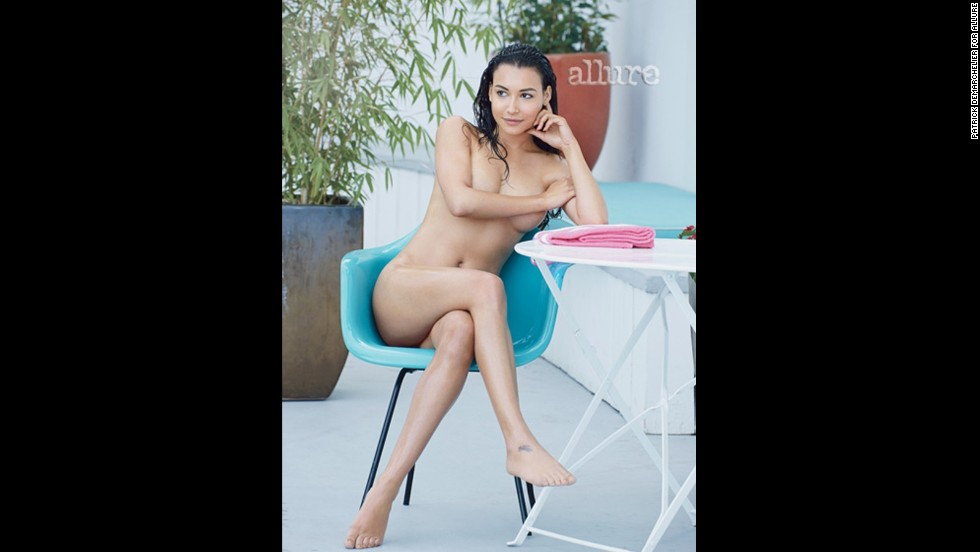 "Naya Rivera bares all in the May issue of Allure, r<a href=""http://marquee.blogs.cnn.com/2013/04/16/glee-star-strips-down-for-magazine-spread/?iref=allsearch"" target=""_blank"">evealing that she's far more confident about her body now</a> than she was when she was working at her pre-fame job at Hooters."