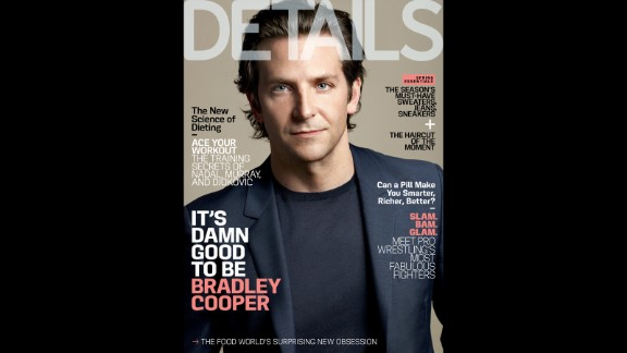 Bradley Cooper opens up about his father's passing, living with his mother and his own aspirations for fatherhood in the May issue of Details.