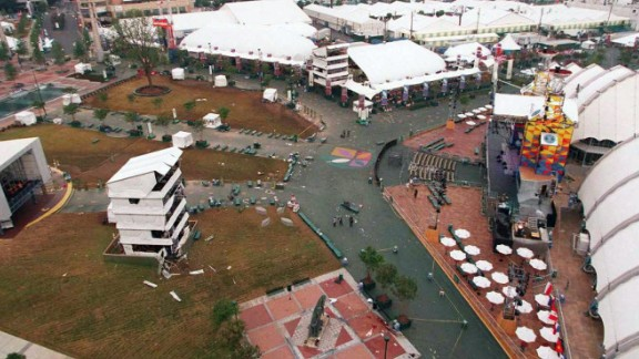 Atlanta was the excited and elated host of the 1996 Summer Olympics when a bomb went off at Centennial Olympic Park on July 27. Two people were killed and 111 were injured by the blast. Eric Rudolph was convicted of placing the 40-pound bomb, which was filled with nails and screws.