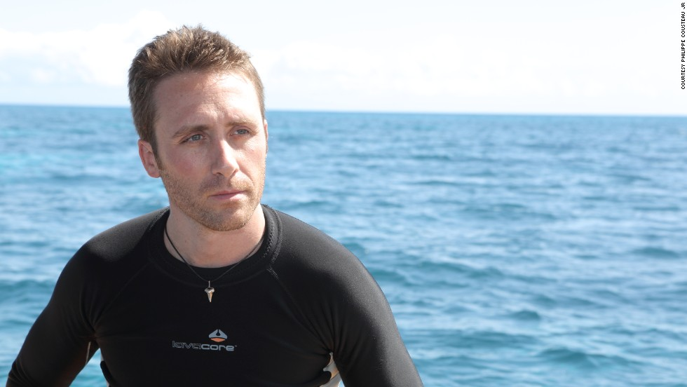 Philippe Cousteau, Jr. during a recent dive in the waters off the Great Barrier Reef.