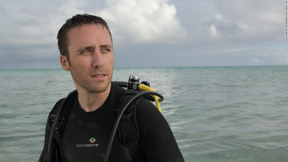 Philippe Cousteau, Jr. is seen during a recent dive in the waters off the Great Barrier Reef.