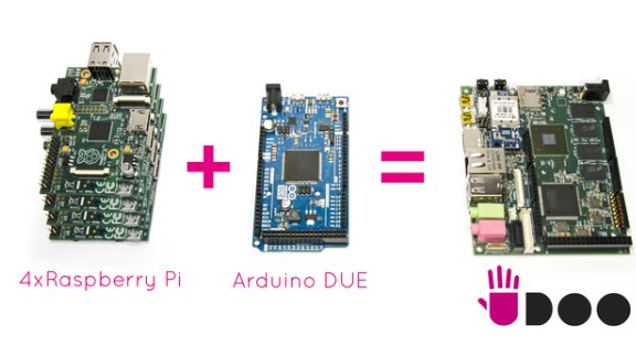 """The UDOO (pronounced """"you do"""") brings together the power of four Raspberry Pi's and the popular micro-controller Arduino to create a highly customizable PC for just $100."""