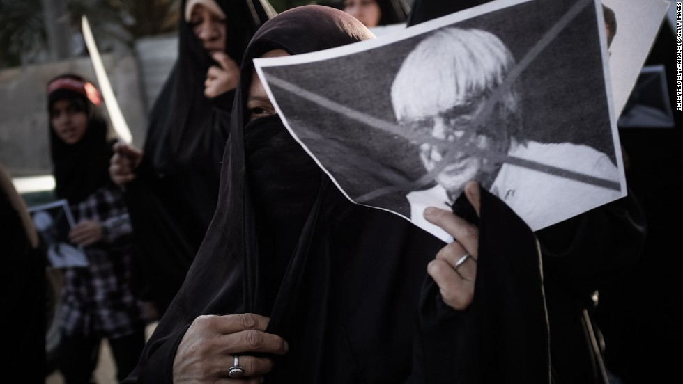 There have been protests against Formula One's arrival in Bahrain as the race returned in 2013. Some protesters, pictured here on April 16, wanted F1 chief Bernie Ecclestone to cancel the race.