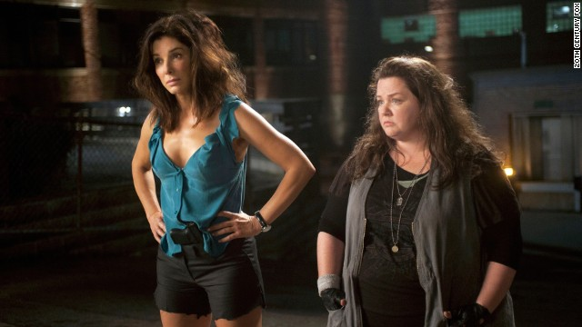 "Sandra Bullock stars as Special Agent Sarah Ashburn and Melissa McCarthy stars as Det. Shannon Mullins in ""The Heat."""