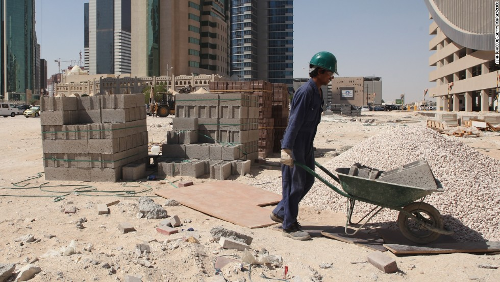 The ITUC points to Qatar's system of sponsorship which ties workers to employers and has been abused in the past. They also point to the high number of worker deaths and the conditions that many find themselves in. Temperatures on building sites in the summer months can hit 50 degrees Celcius.