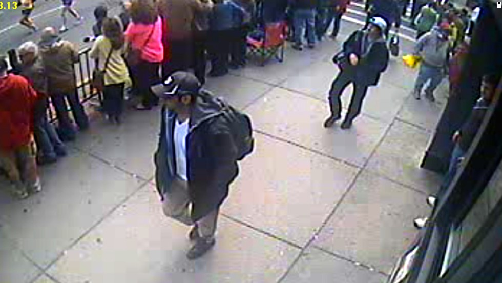 "On April 18, 2013, the FBI <a href=""http://www.cnn.com/2013/04/18/us/gallery/fbi-boston-suspects/index.html"">released photos</a> and video of two suspects in the bombings and asked for the public's help in identifying them."