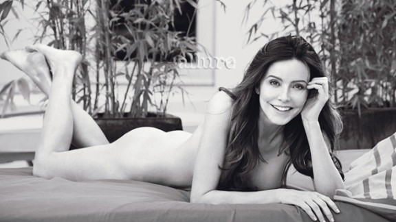 """""""Cougar Town"""" star Christa Miller looks so comfortable here, you might not have guess it was her first fully nude shoot."""