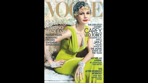 """Thanks to Carey Mulligan's role as Daisy Buchanan in Baz Luhrmann's adaptation of """"The Great Gatsby,"""" the May issue of Vogue offers a glamorous 1920s take on the actress."""