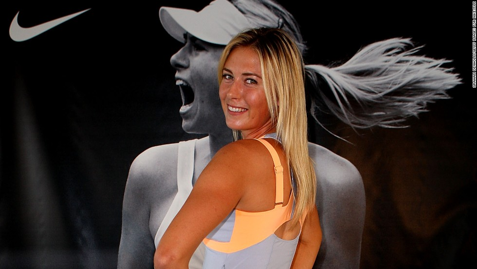 Sharapova has long been associated with Nike, and signed a reported eight-year deal with the sportswear giant in 2010 that could be worth up to $70 million.