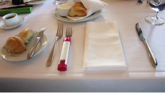 The bite-tracking HapiFork counts how fast someone eats and gently vibrates if they're going too fast.