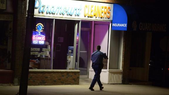 Officers scoured Watertown, Massachusetts, where Dzhokhar Tsarnaev was last seen.