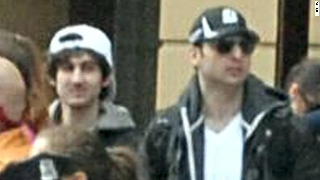 Boston Marathon Bombing Suspects Together. Two bombs went off Monday afternoon in the final two blocks of the Boston marathon route, killing three people and wounding about 180.