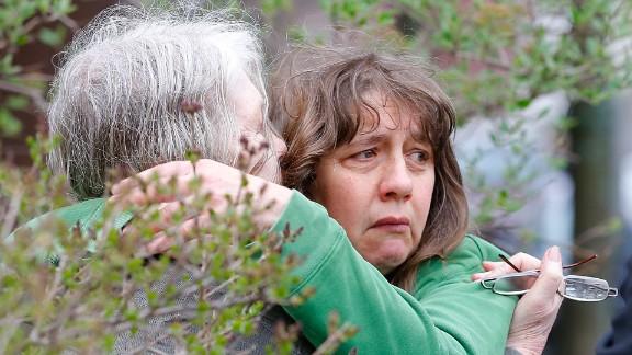 Frightened residents were questioned near Dzhokhar Tsarnaev's home in Cambridge, Massachusetts.