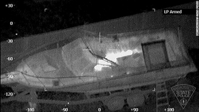 Thermal images of Boston suspect