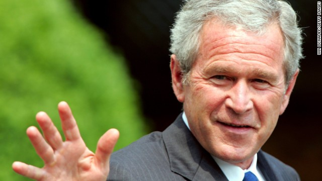U.S. President George W. Bush waves as he departs the White House June 8, 2006 for Camp David, the presidential retreat.