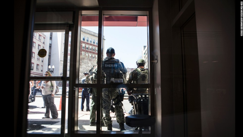 A bomb scare after the marathon bombings sent Tufts staff and patients into the street.