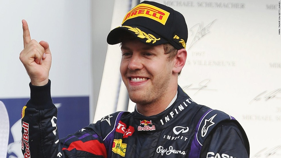 Sebastian Vettel won the 2013 race for Red Bull as he went 10 points clear in the championship standings.