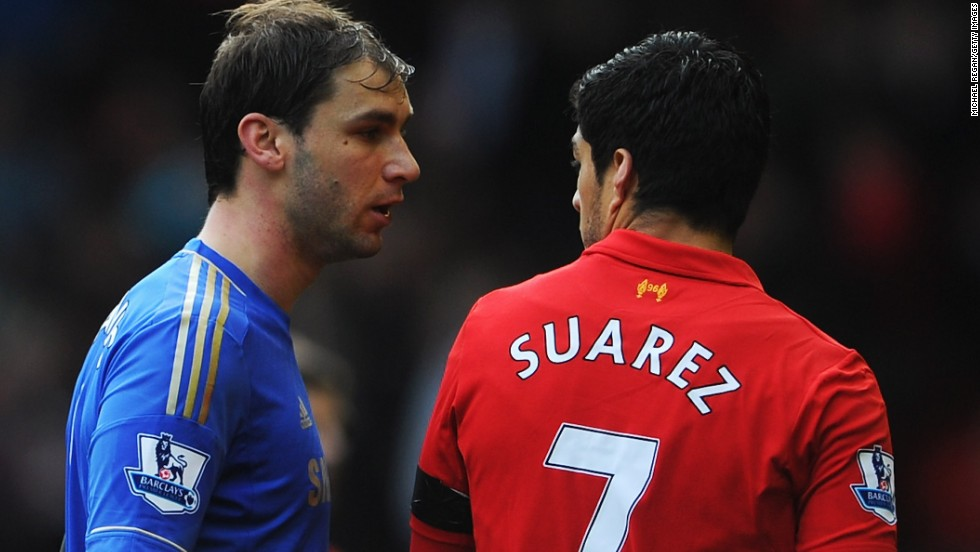 Ivanovic earlier had words with Suarez as they walked off at halftime during the English Premier League match at Anfield.