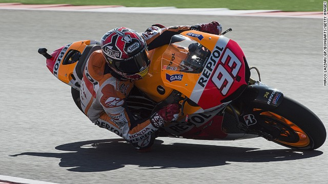 Spanish motorcyclist Marc Marquez is making a big impression in his rookie MotoGP season with Repsol Honda.