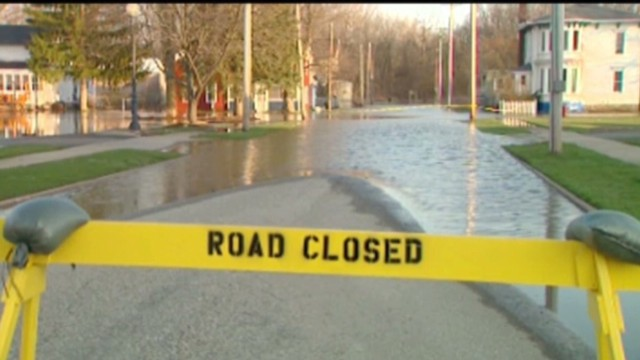 Flooding recedes in western Michigan
