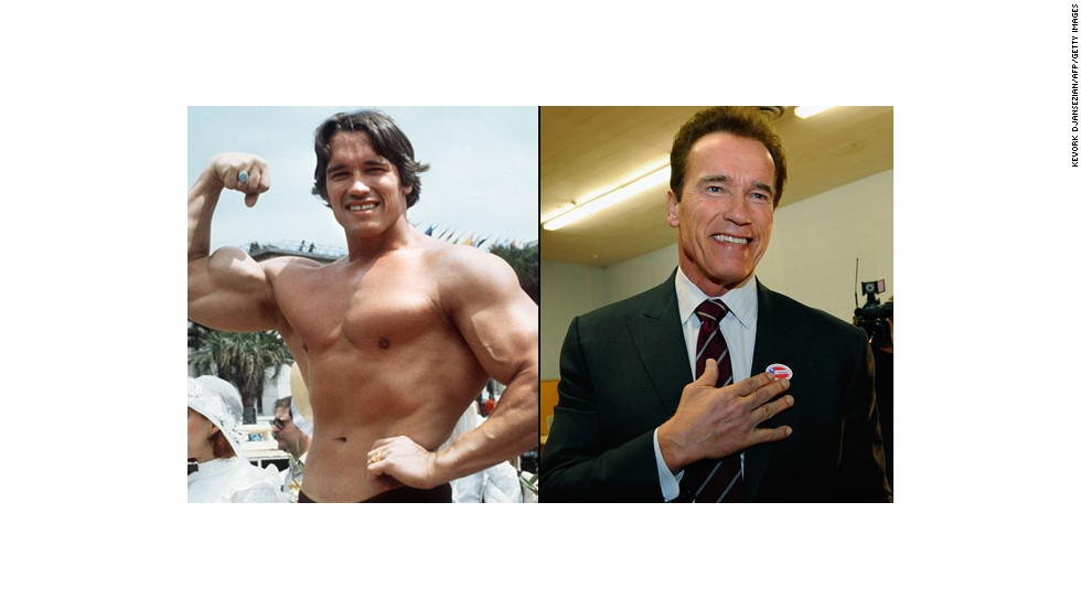 "Arnold Schwarzenegger went from being a professional bodybuilder and starring in movies such as ""The Terminator"" and ""Predator"" to serving two terms as the governor of California. After it came out that Schwarzenegger fathered a child with someone who was employed by his family years prior, he appeared in ""The Expendables 2"" and ""The Last Stand."""