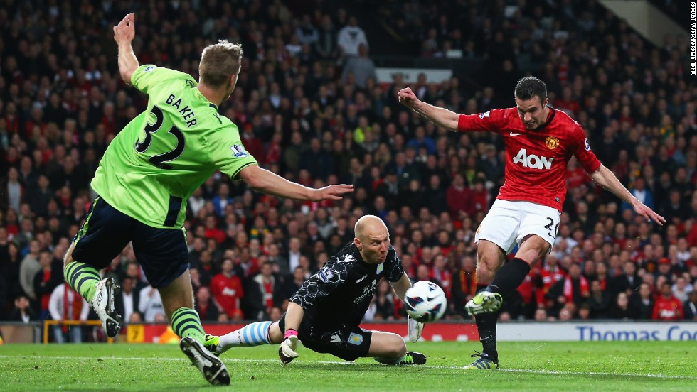 The 39-year-old Giggs was also involved in the third goal as Van Persie  netted for the 24th time in the Premier League this season to seal United's 20th English championship.