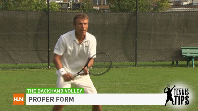 Tennis Tips: Backhand volley