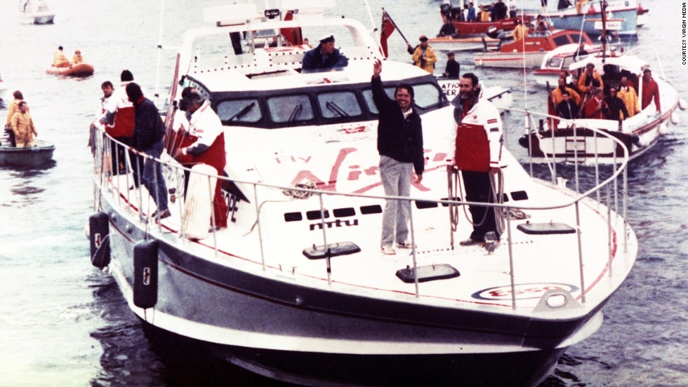 In 1986 business mogul Richard Branson smashed the record for the fastest crossing of the Atlantic in his powerboat, Virgin Atlantic Challenger II.