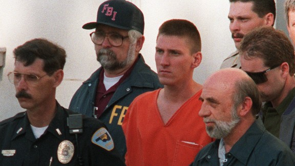 """Timothy McVeigh originally requested that his ashes be spread at the Oklahoma City bombing memorial, the site that commemorates the 168 people he killed in 1995 with a 7,000-pound truck bomb. But he later wrote that that would be """"too raw, cold."""" After his 2001 execution, his ashes were given to his attorney, who spread them at an undisclosed location."""