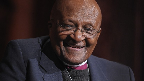 Archbishop Desmond Tutu at the 2012 Global Leadership Awards Dinner on October 16, 2012 in New York City.