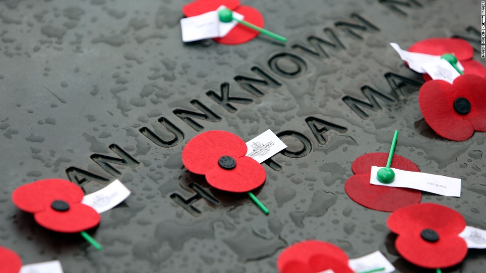 Australia New Zealand Army Corps (ANZAC) Day commemorates the date when the allied First World War forces landed on the Gallipoli Peninsula.  Here, poppies lay on the Tomb of the Unknown Warrior during the National Commemorative Service at the National War Memorial on Thursday, April 25 in Wellington, New Zealand.