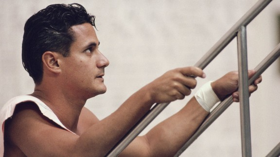 """American four-time Olympic gold medallist Greg Louganis came out as gay when he was diagnosed with HIV in 1988. He told CNN's Piers Morgan in 2012 he believes in """"equal rights for everybody."""""""