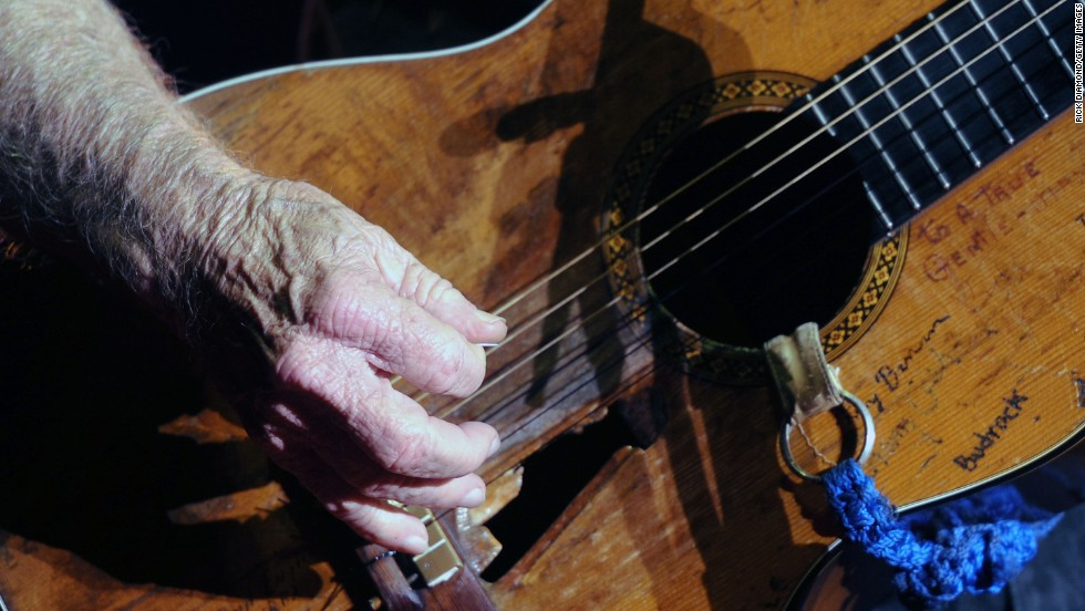 Nelson performs during Willie Nelson's Country Throwdown Tour 2011 on June 3, 2011, in Nashville.